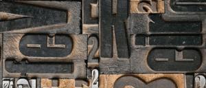 Lettres imprimerie bois