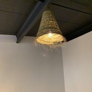 Luminaire paille tressé T1